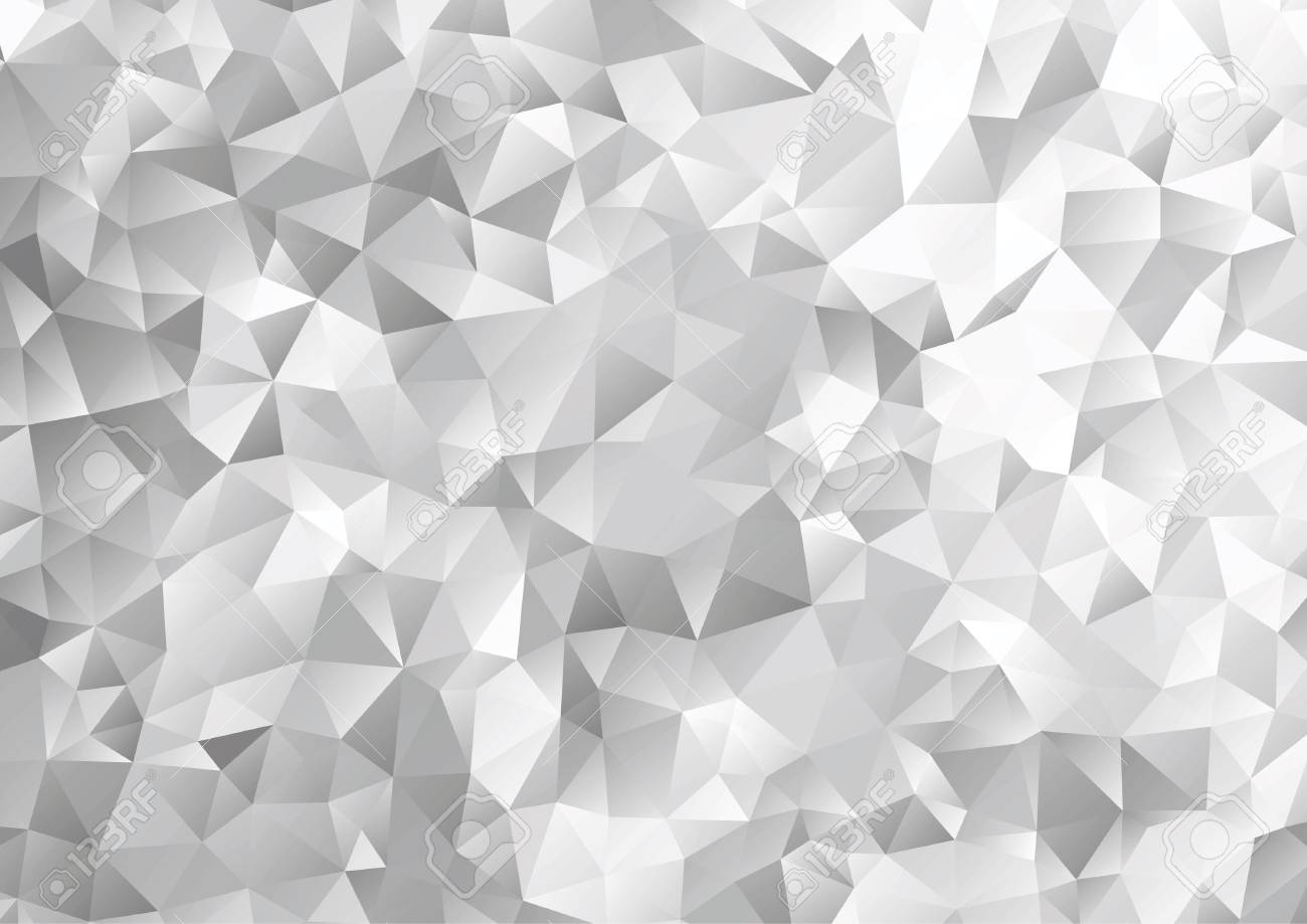 Black And White Geometric Pattern Triangle Polygon Design Vector