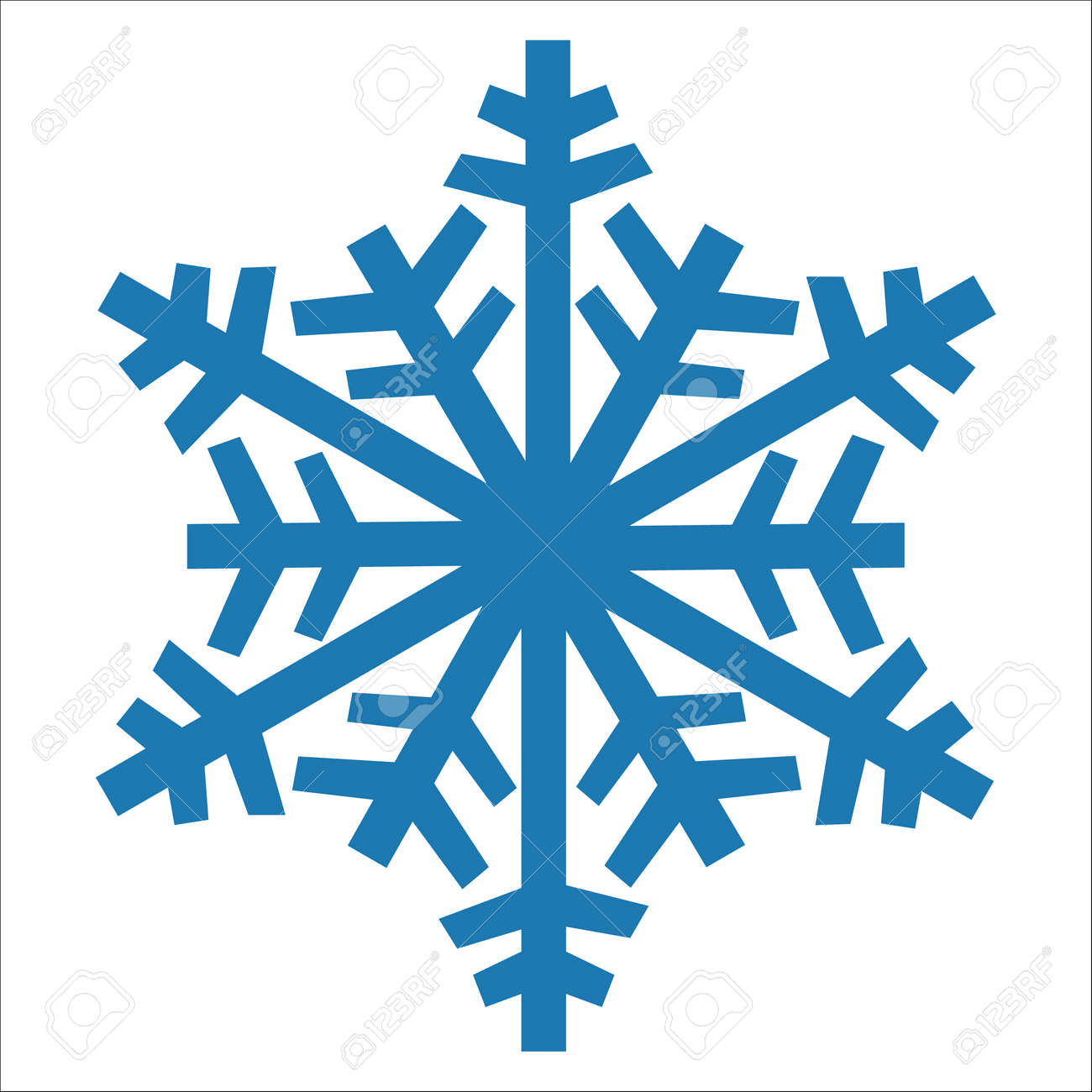 snowflake vector icon blue color. winter white christmas snow.. royalty  free cliparts, vectors, and stock illustration. image 93344935.  123rf