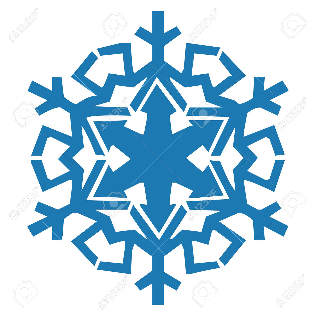 snowflake vector icon blue color winter white christmas snow rh 123rf com snowflake free vector art snowflake background vector free