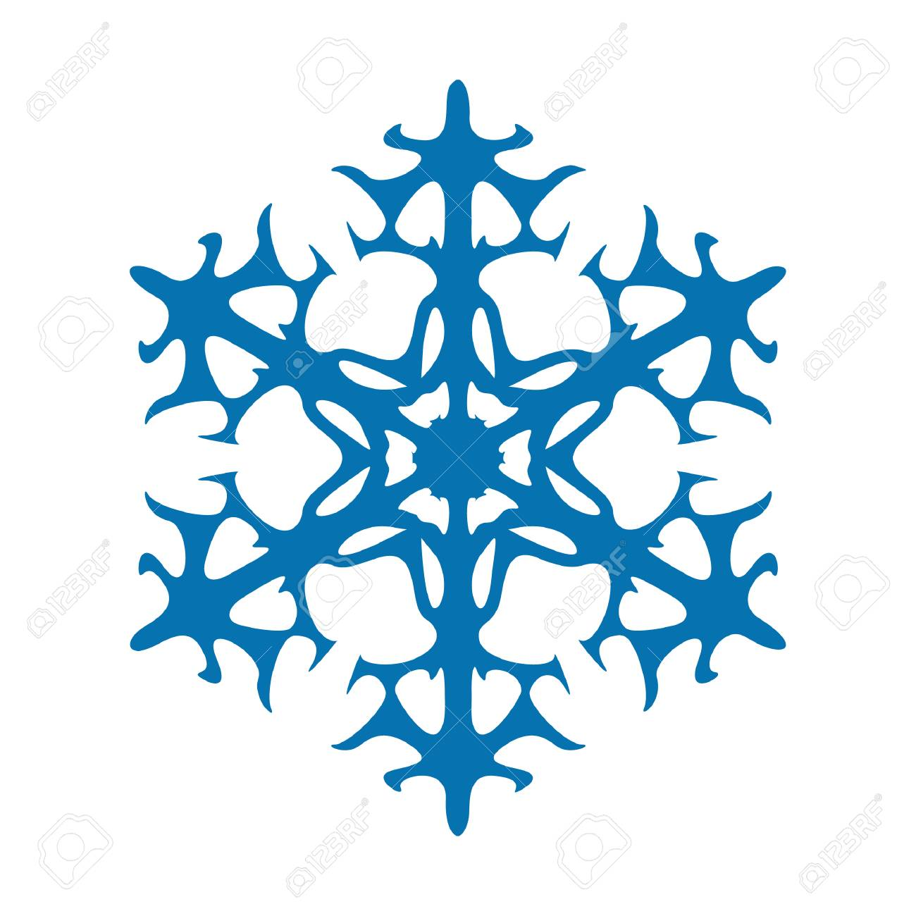 snowflake vector icon blue color winter white christmas snow rh 123rf com snowflake vector image snowflake vector image