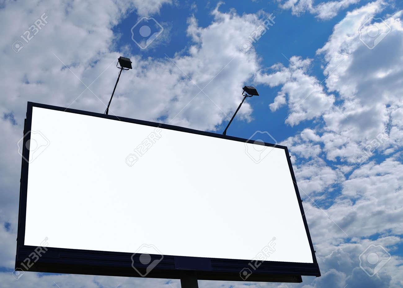 clean empty billboard on a background beautiful sky Stock Photo - 3134428