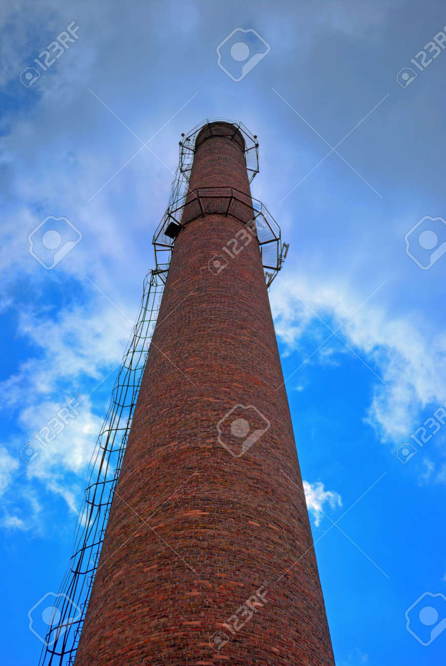 urban chimney-stalk on a background cloudy sky Stock Photo - 3563996