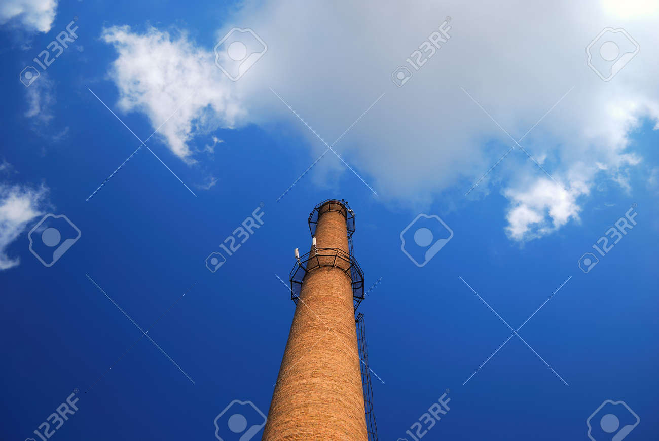urban chimney-stalk on a background cloudy sky Stock Photo - 3563975