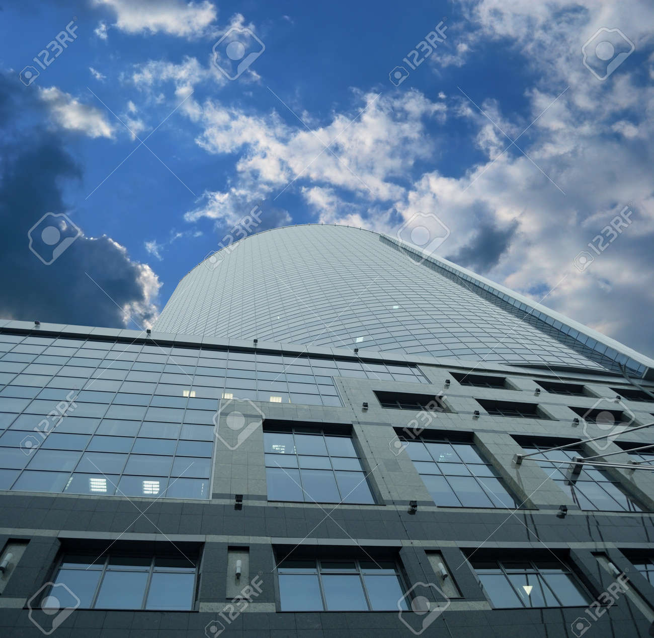 New skyscrapers office centre - business ship in the sky Stock Photo - 4169488