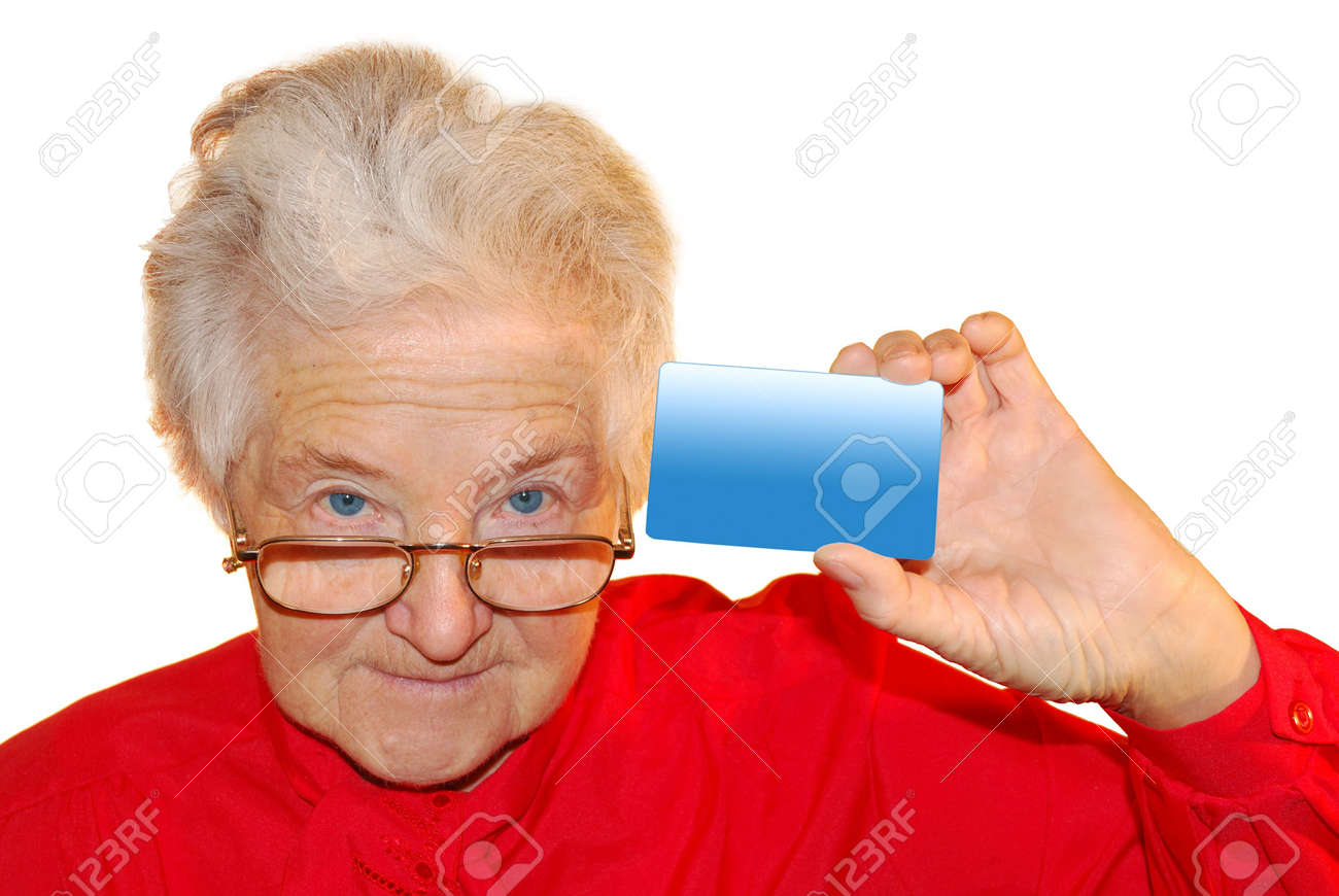 a portrait of elderly woman is in red Stock Photo - 4237961