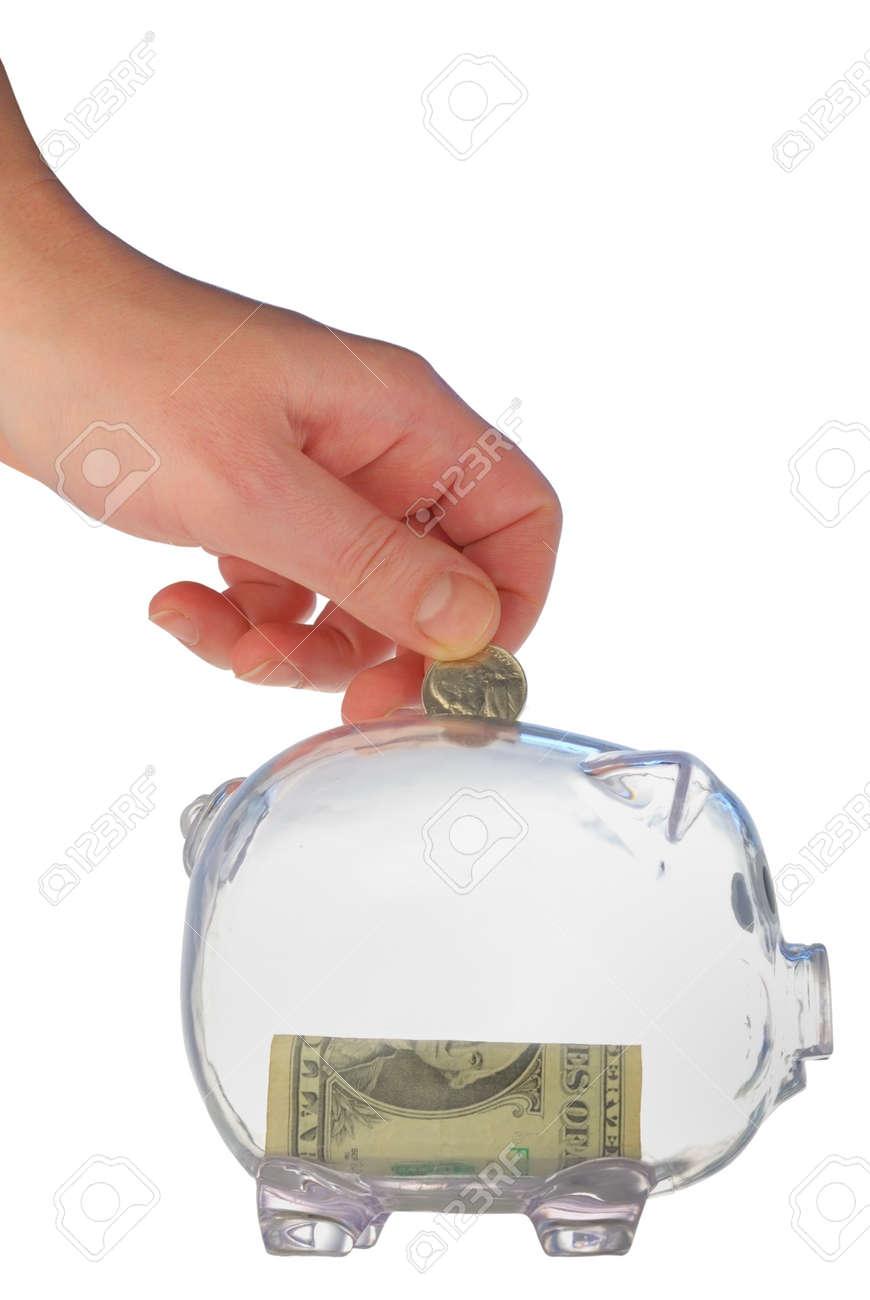 money box in form transparent plastic pig Stock Photo - 4370732