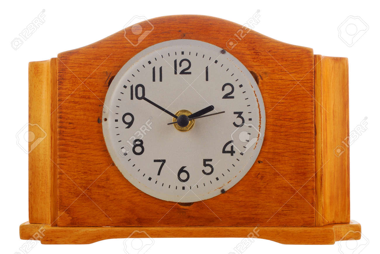 age-old mechanical clock isolated on a white background Stock Photo - 4534093