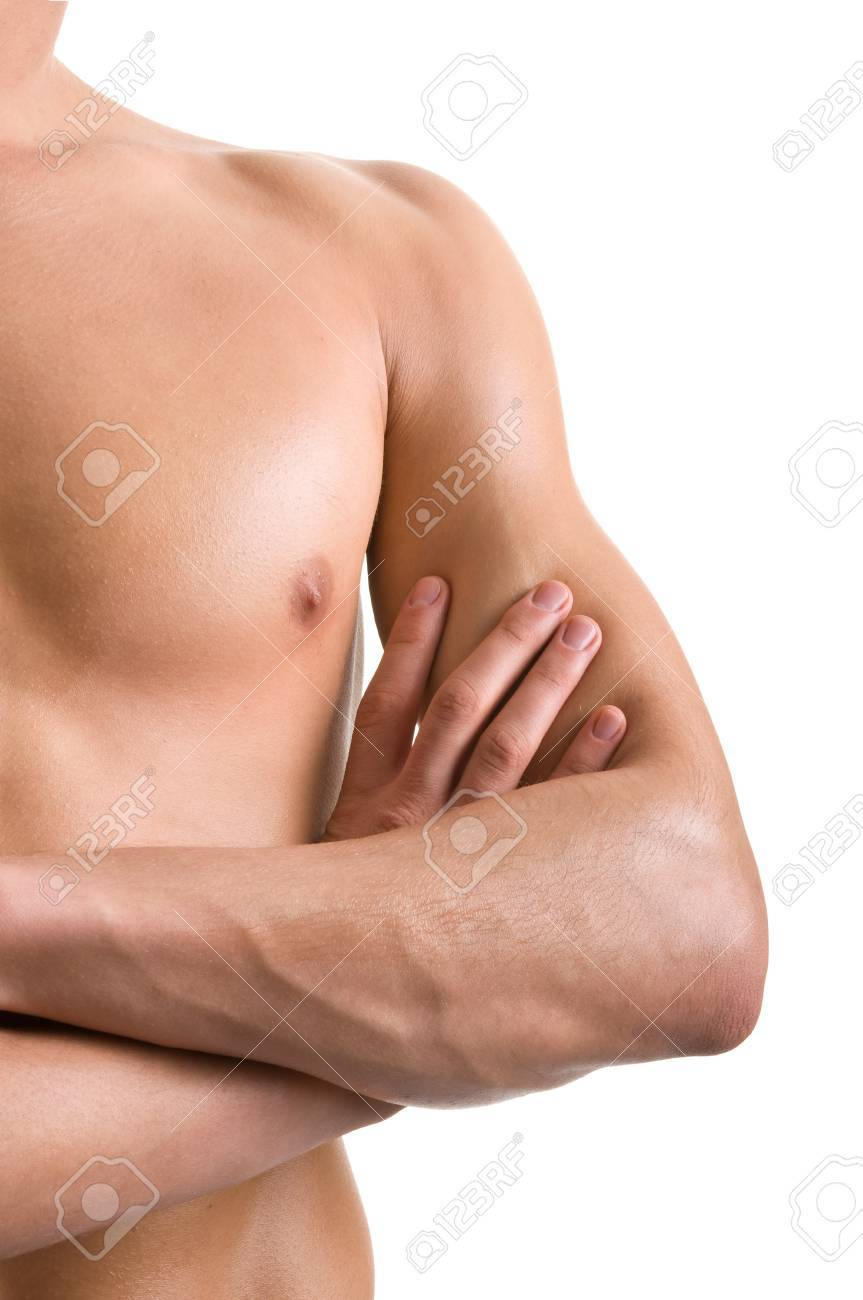 shoulder and arm naked male body (an athlete) Stock Photo - 10923143