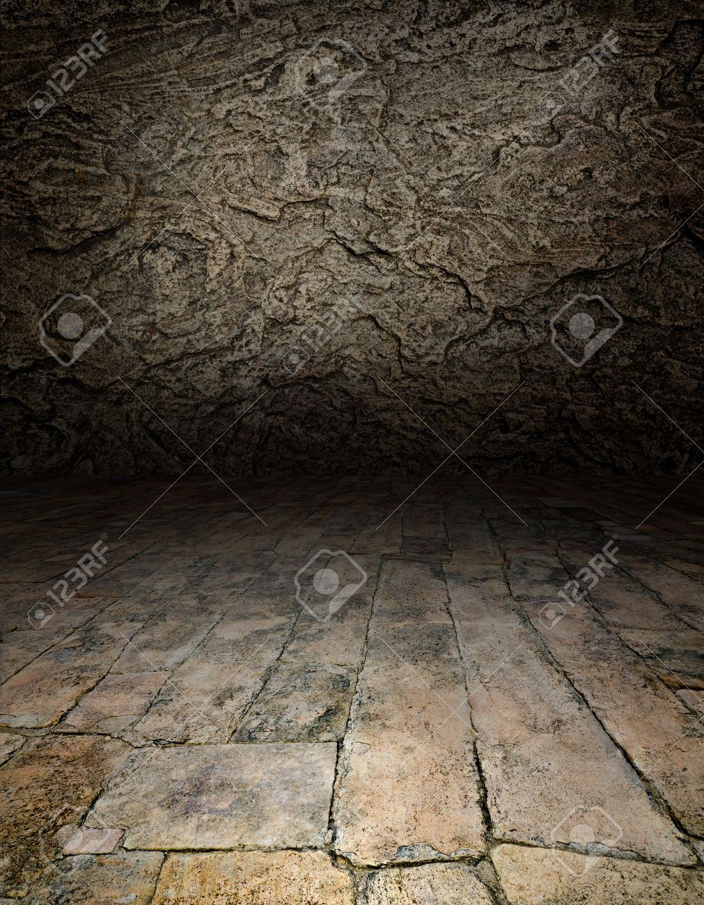 Artistic interiors - a scene with a stone floor Stock Photo - 13250214