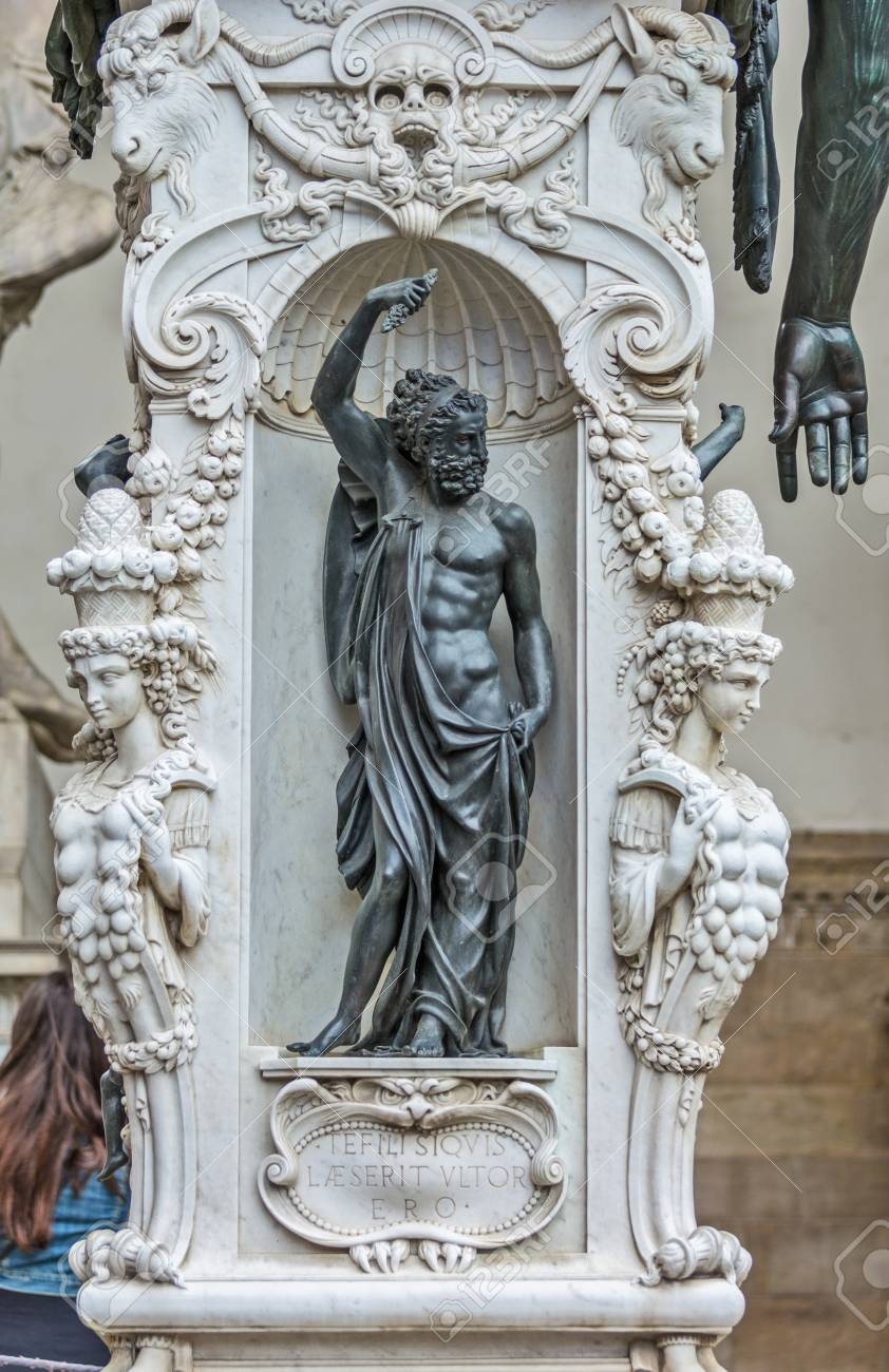 Florence Italy May 12 2019 Bronze Statue Of The Perseus