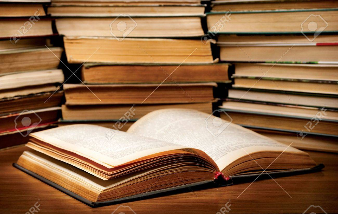 A stack of old books on the table. Stock Photo - 9923928