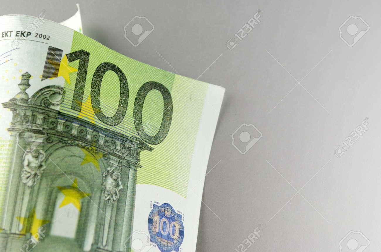 Euro, European Union money on a gray background Stock Photo - 17163634