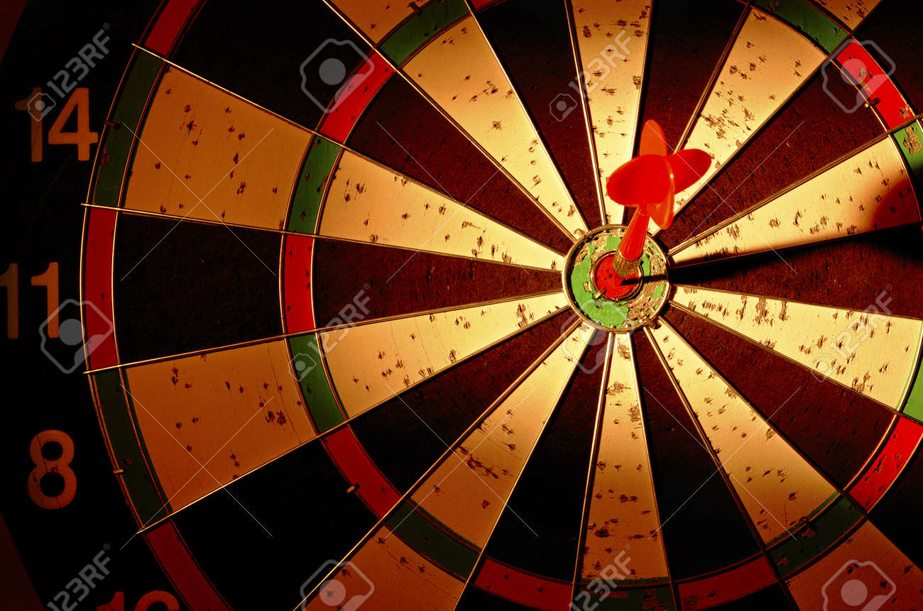 darts arrows in the target center Stock Photo - 17467112