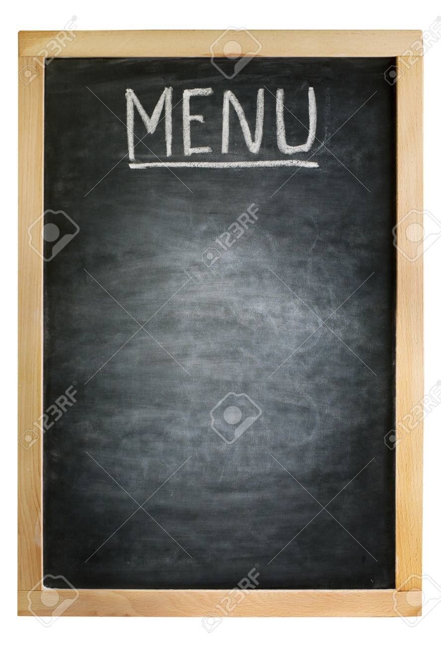 carte menu restaurant vide Empty Blackboard, Suitable For Restaurant Menu Stock Photo
