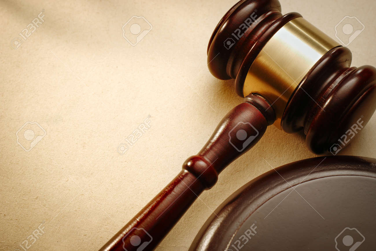 Gavel close up. Conceptual image of law and justice. - 40908613
