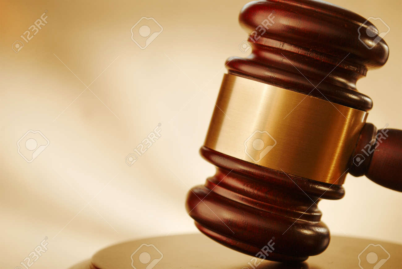 Gavel close up. Conceptual image of law and justice. - 40908665