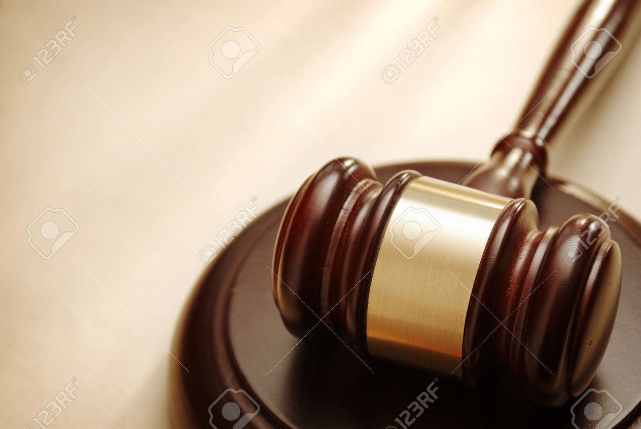 Gavel close up. Conceptual image of law and justice. - 40908728