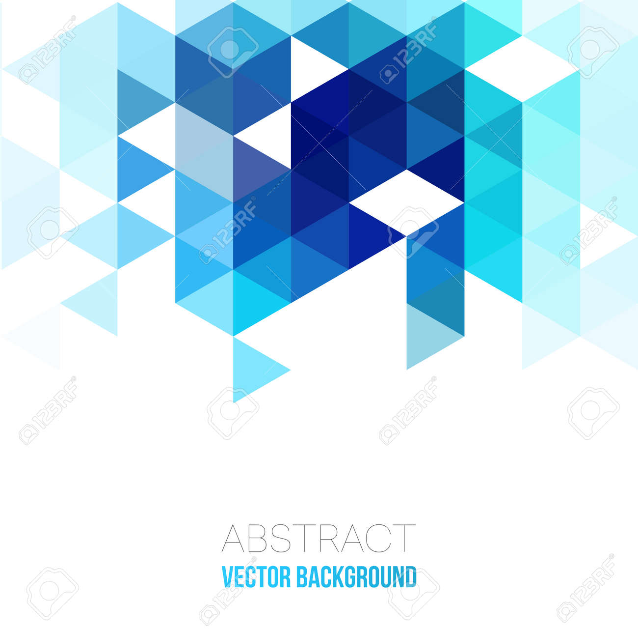 Vector Abstract Geometric Background With Triangles Vector Illustration
