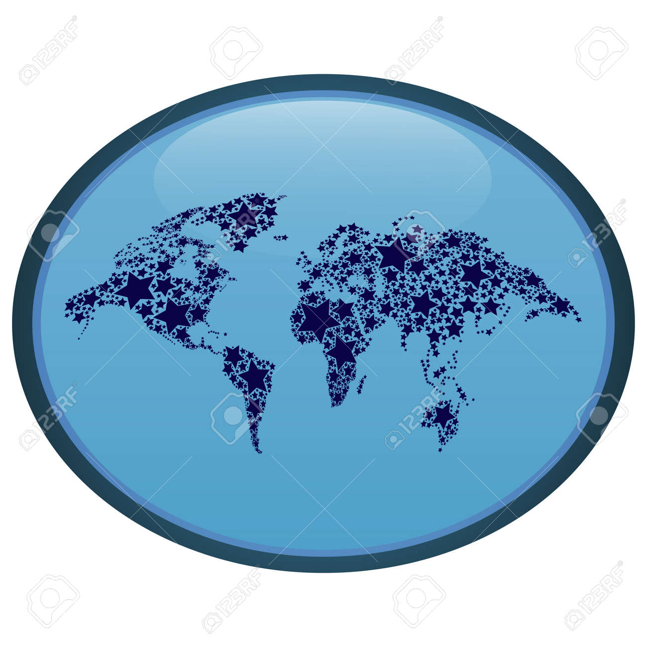 Abstract oval world map icon royalty free cliparts vectors and abstract oval world map icon stock vector 63282226 gumiabroncs Image collections