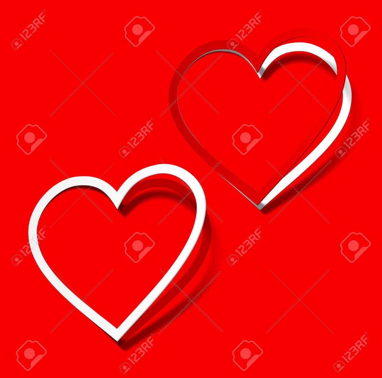 I love you heart sticker red scarlet realistic shadow symbol sign object paper emotion Stock Vector - 11175109