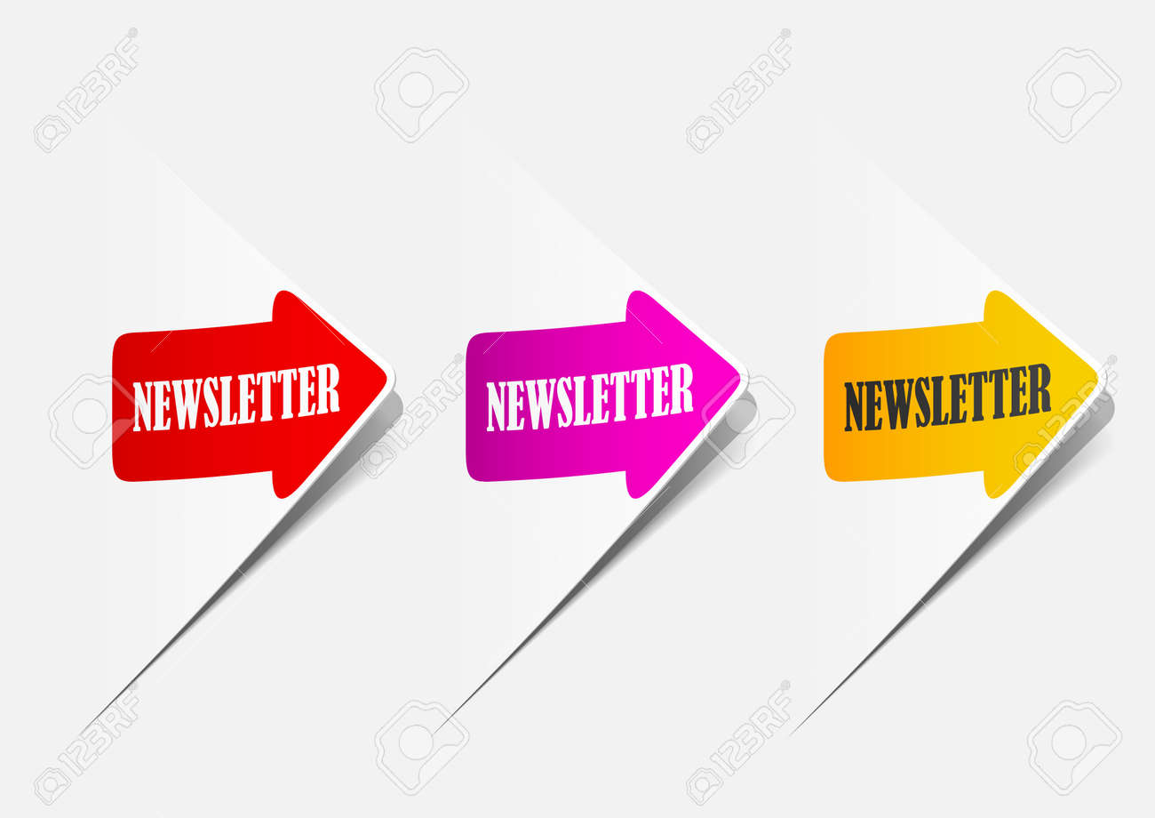 newsletter, realistic design elements Stock Photo - 11452640