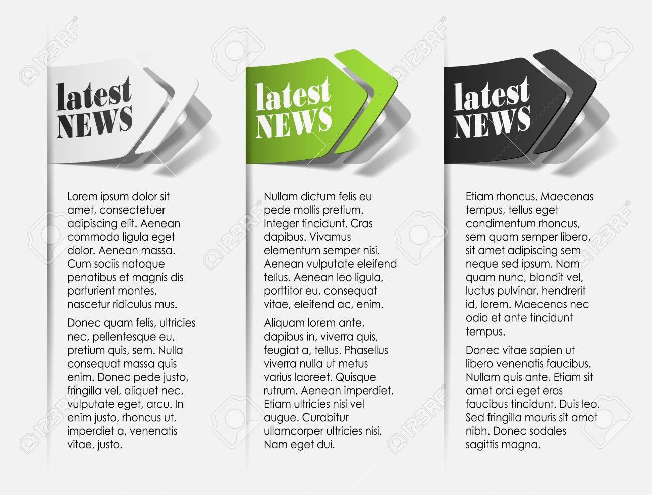 latest news, realistic design elements Stock Vector - 14249190