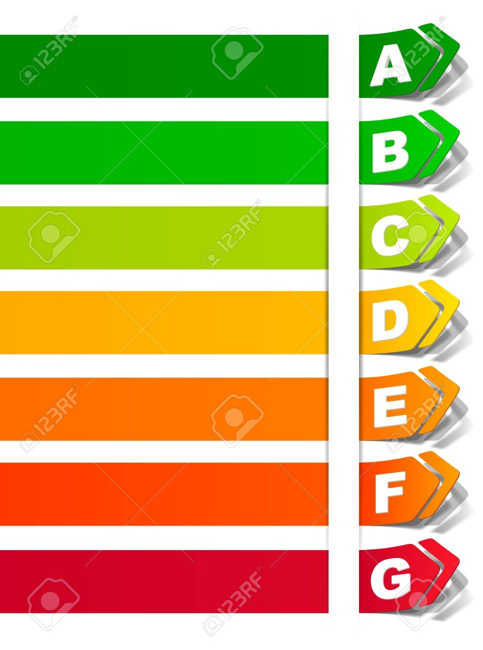 energy classification in the form of a sticker Stock Vector - 14811832