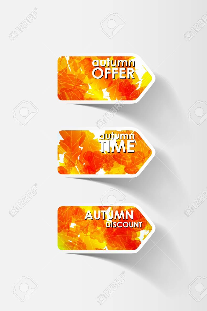 autumn sticker Stock Vector - 16485802