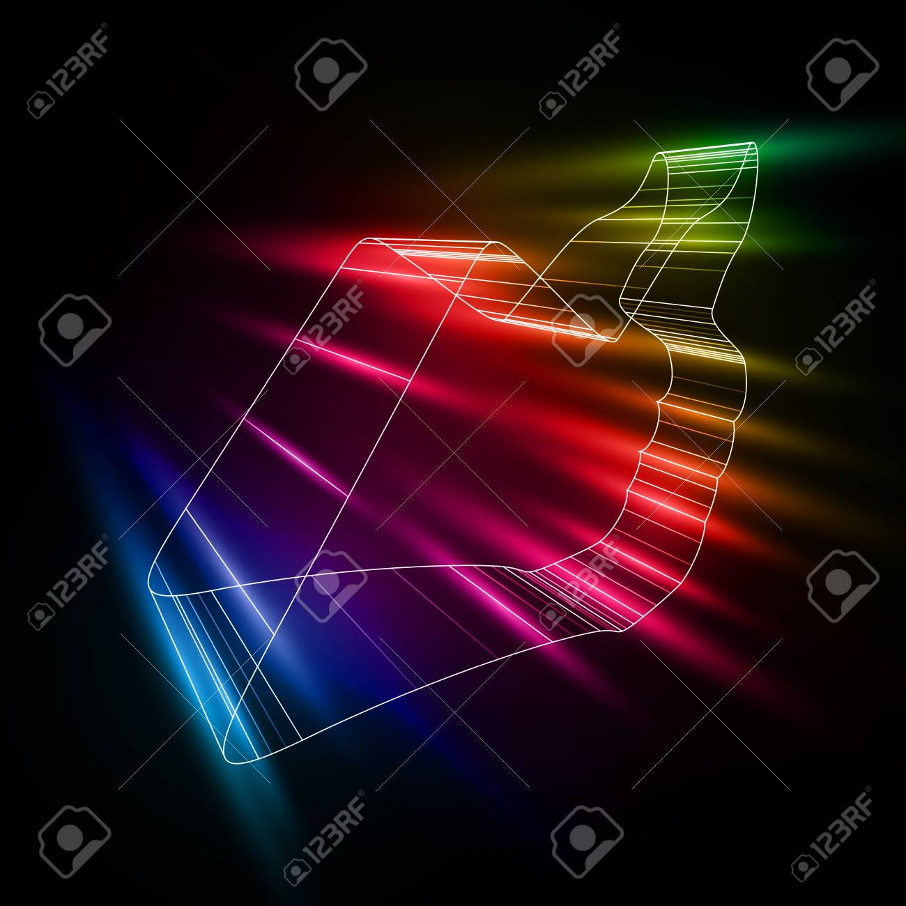 abstract symbol of LIKE in style 3D Stock Vector - 16614243