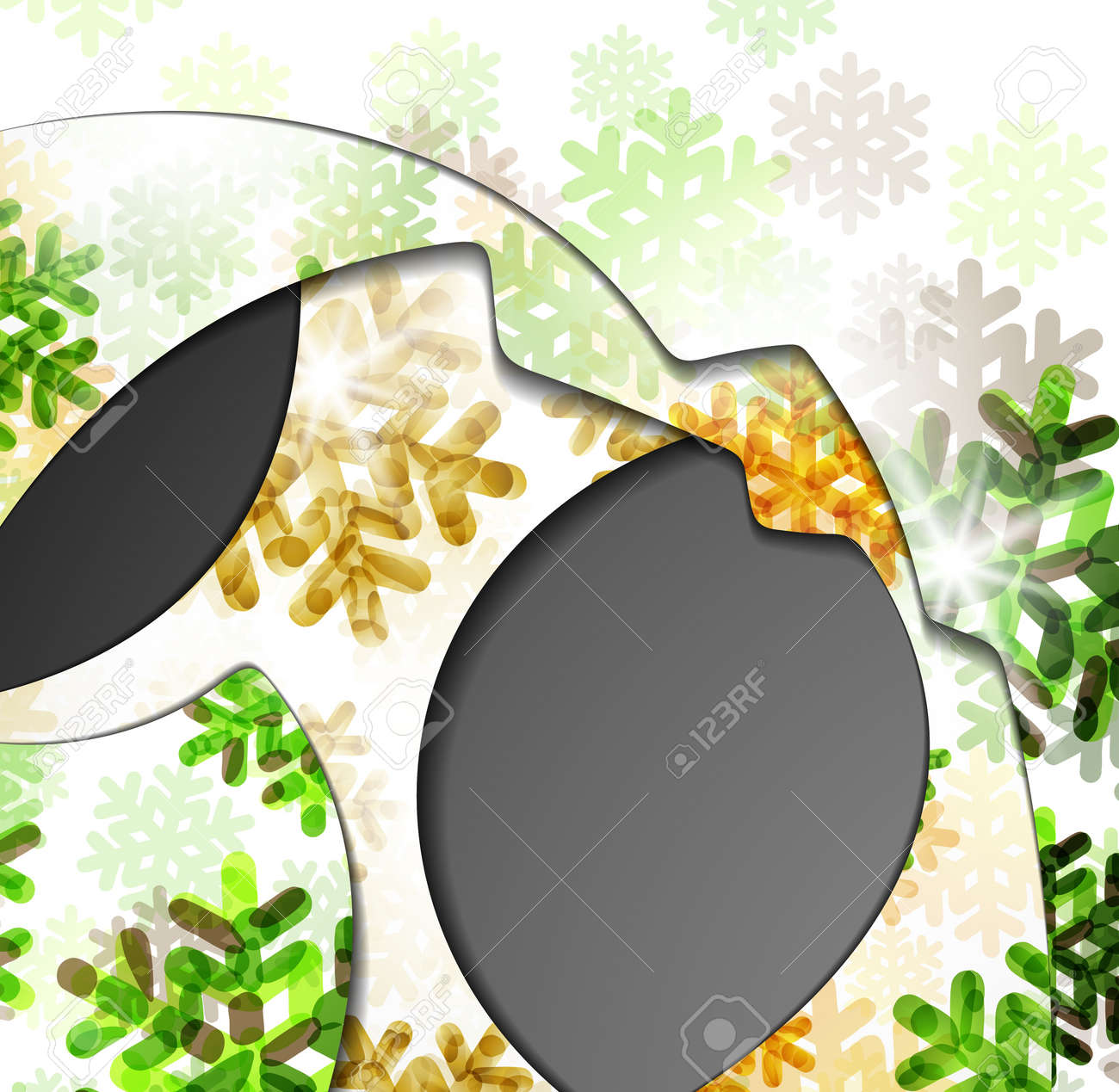 layered abstract background with snowflakes image Stock Vector - 16865944