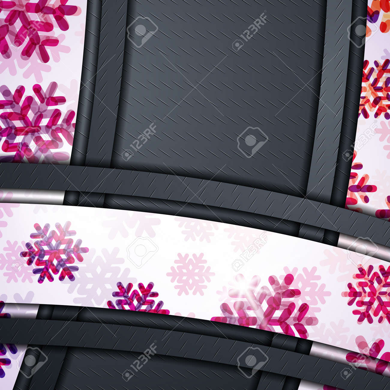 layered abstract background with snowflakes image Stock Vector - 17600405