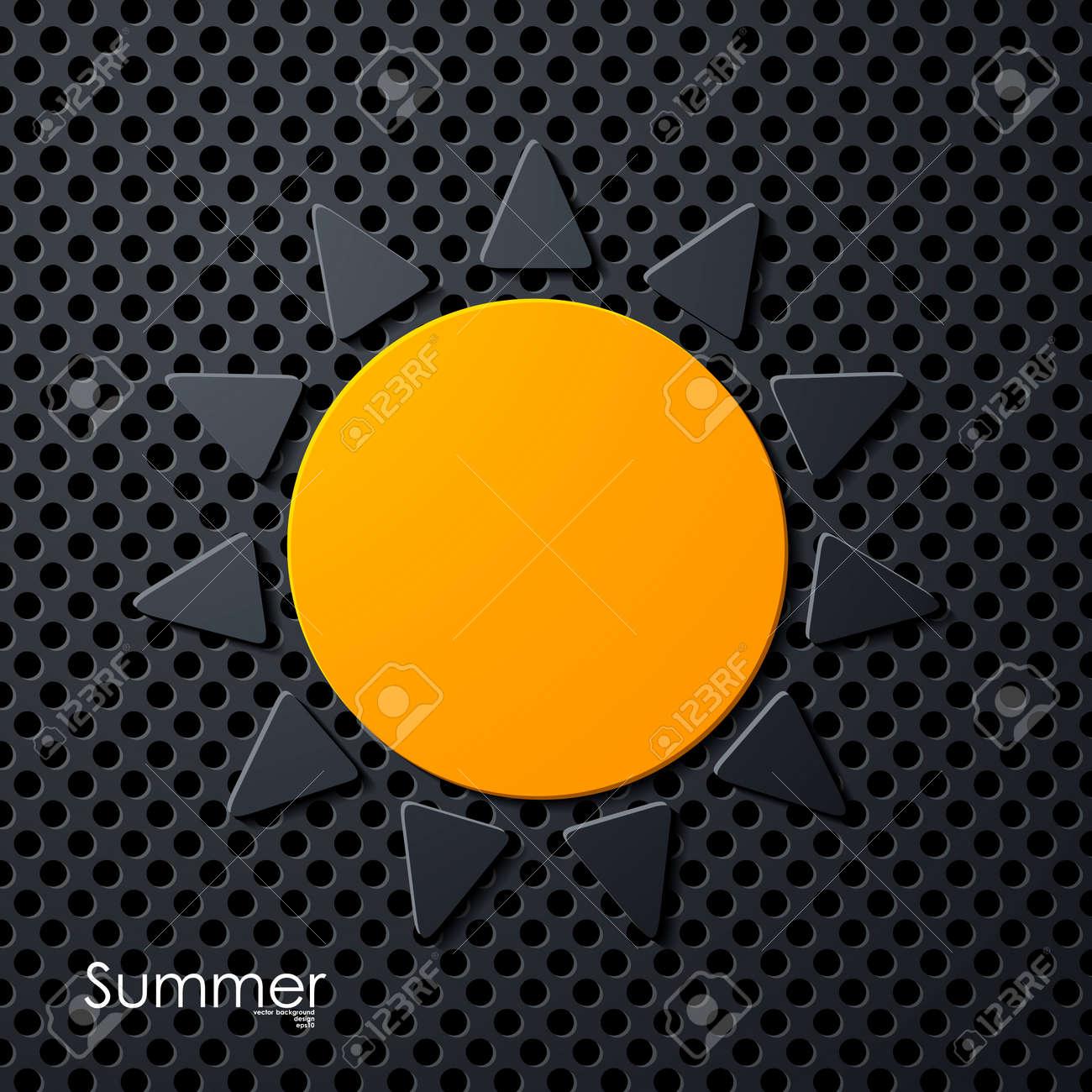 summer sun icon Stock Vector - 24130347