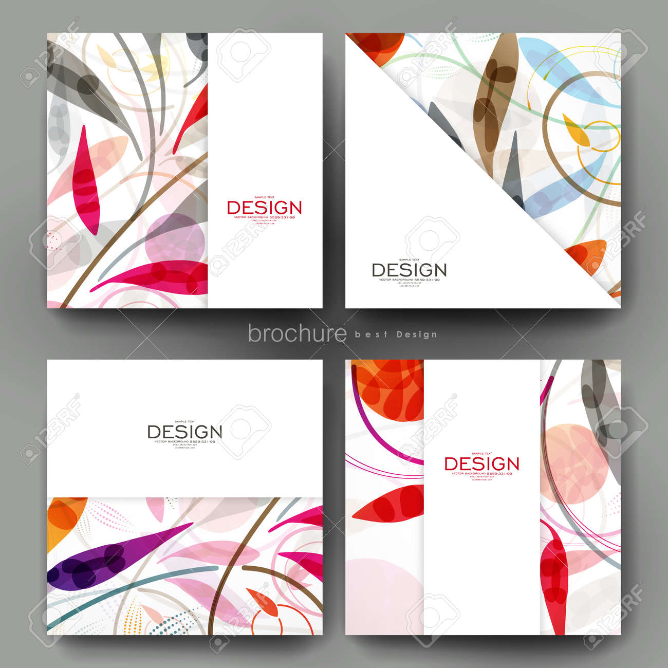 floral ornament vector brochure template flyer layout creative