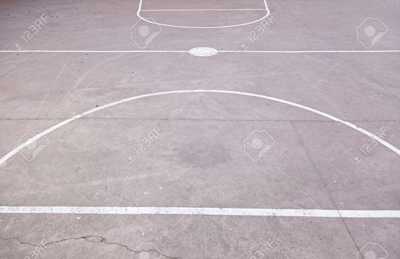 Sol Terrain De Basket terrain de basket superficie, détail sol en béton, jeux de plein air, sport