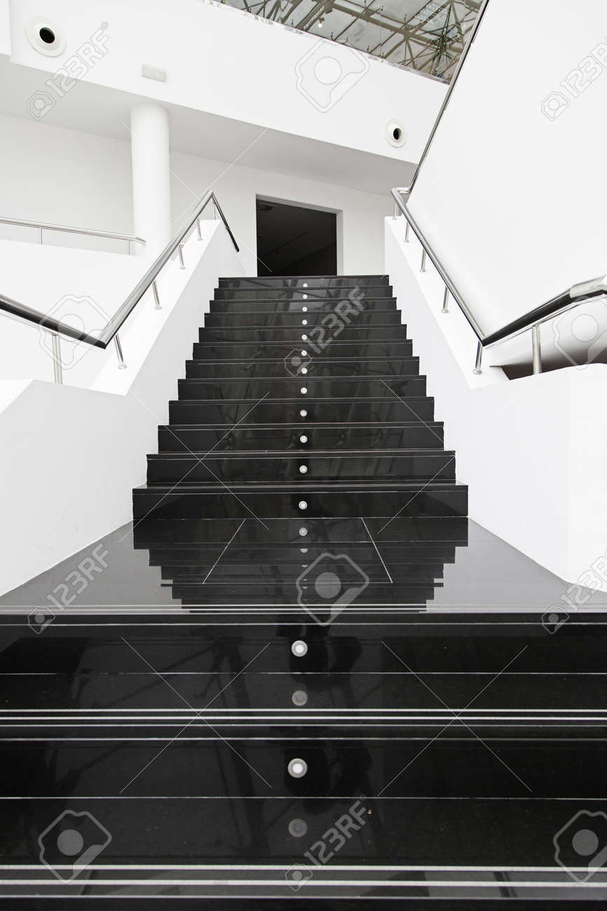 Black Marble Stairs Detail Of A Modern Escaler Stock Photo Picture And Royalty Free Image Image 54677509