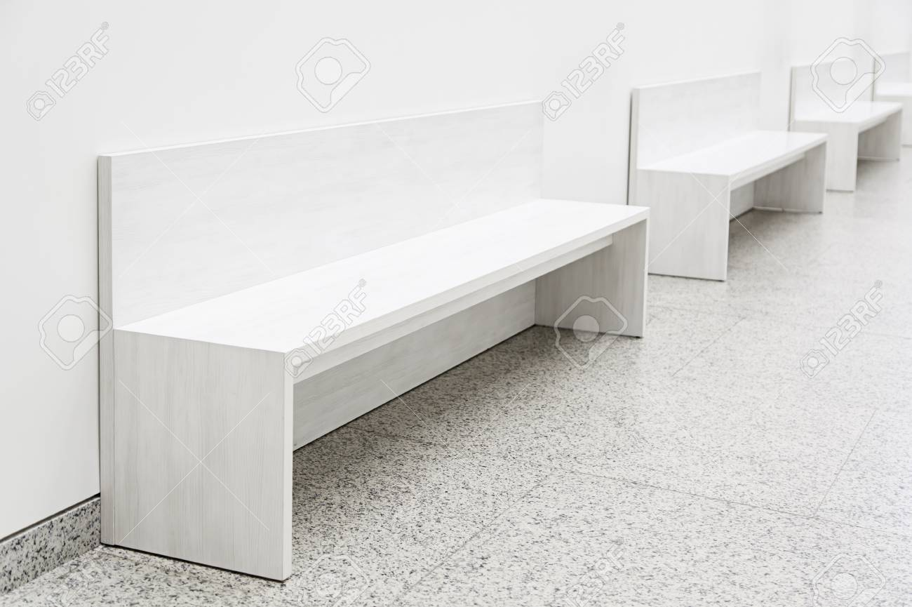 Stock photo white decorative benches detail of furniture to rest