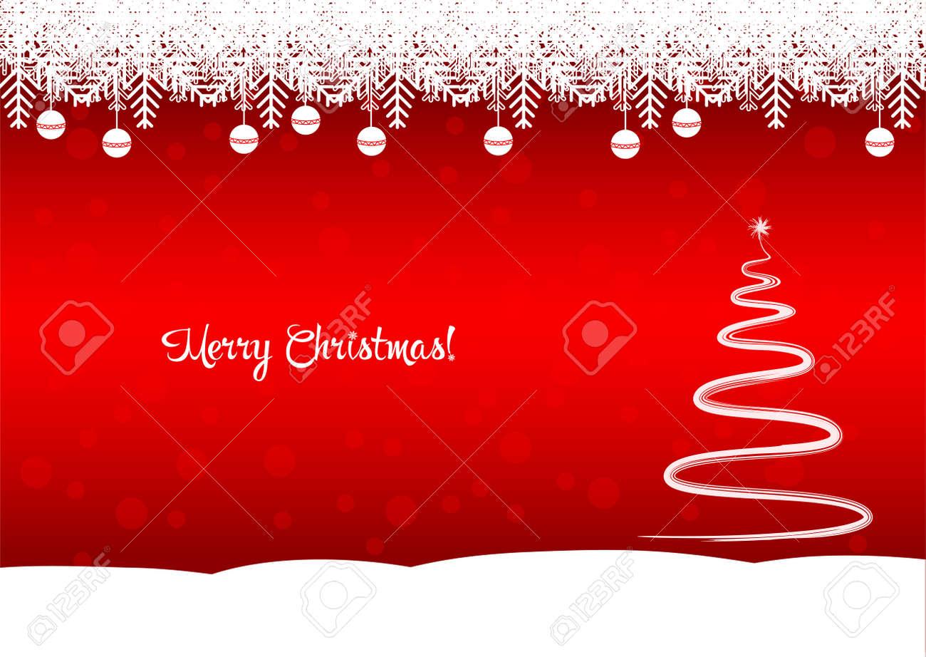 Immagini Natale Zen.Vettoriale Albero Di Natale Allegro Lo Sfondo Rosso E Un Bellissimo Albero Zen Image 48780704