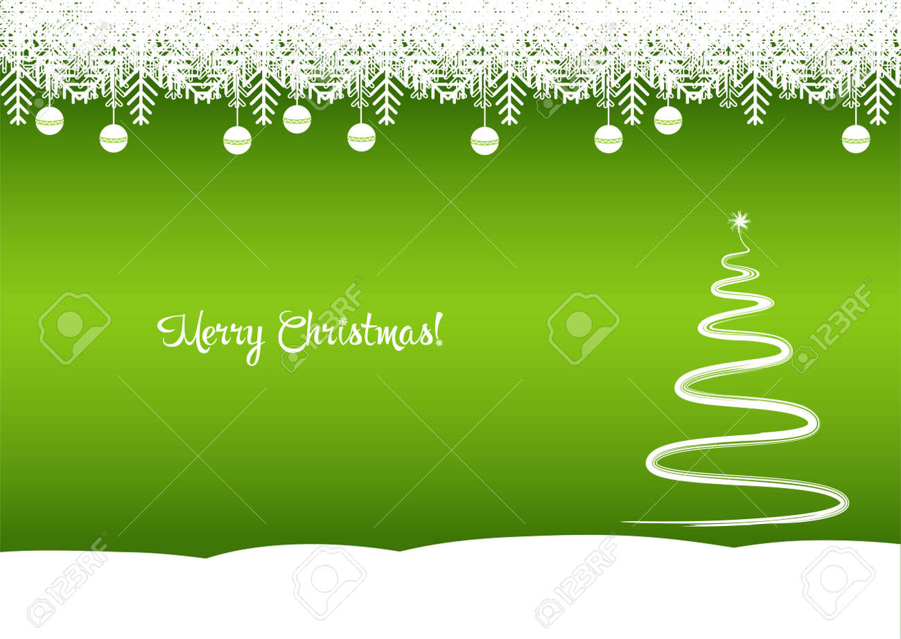 Immagini Natale Zen.Merry Christmas Tree The Green Background Is A Beautiful Tree Royalty Free Cliparts Vectors And Stock Illustration Image 48780715