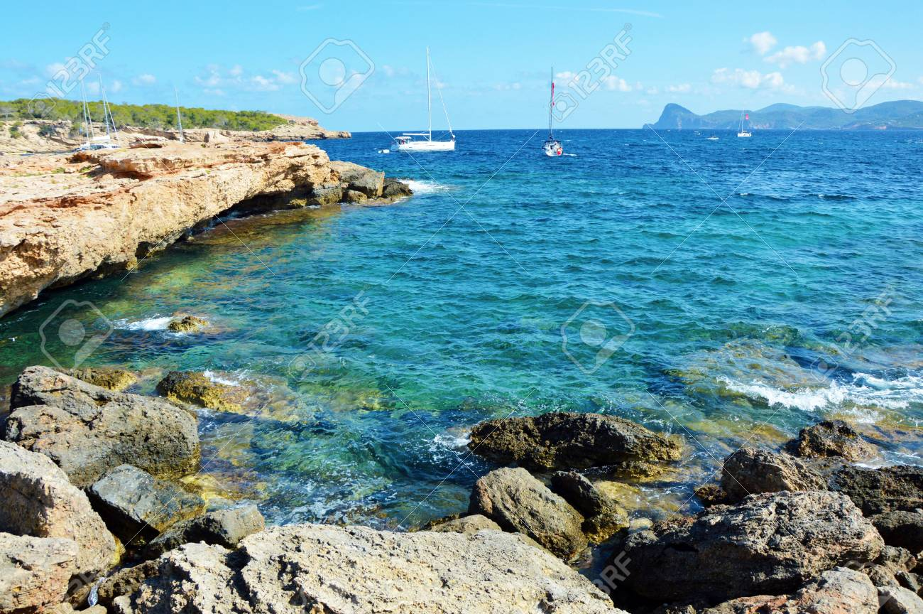 Beach Ibiza, Cala Bassa, Spain