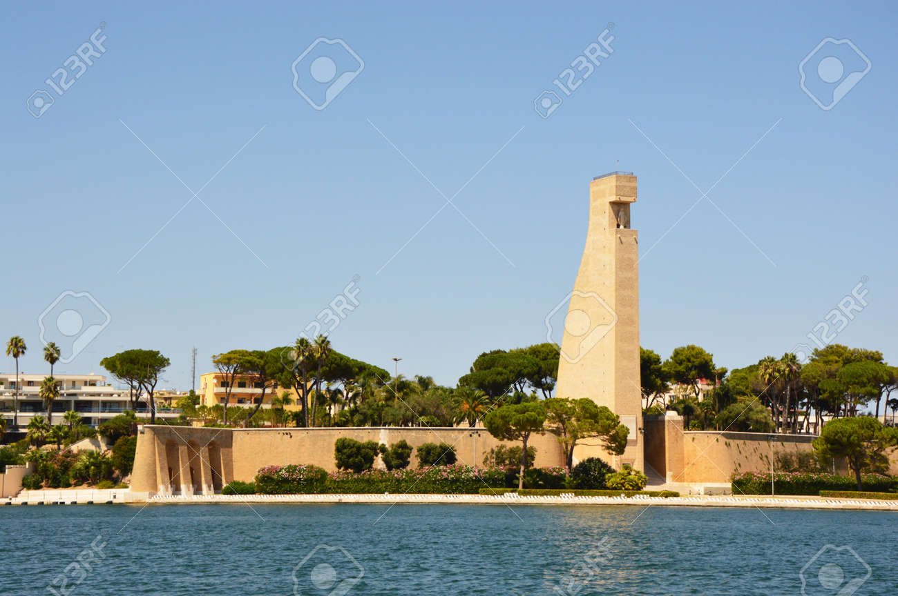 Monument to the Sailor of Italy in Brindisi city, Apulia, southern Italy - 84492470