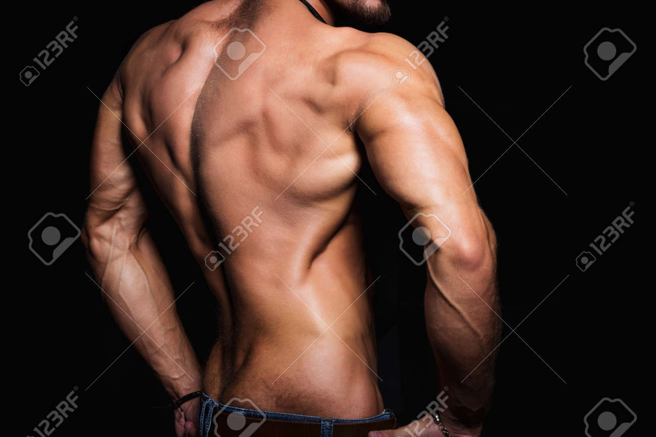 Muscular Back And Sexy Torso Of Young Man Perfect Back Muscles