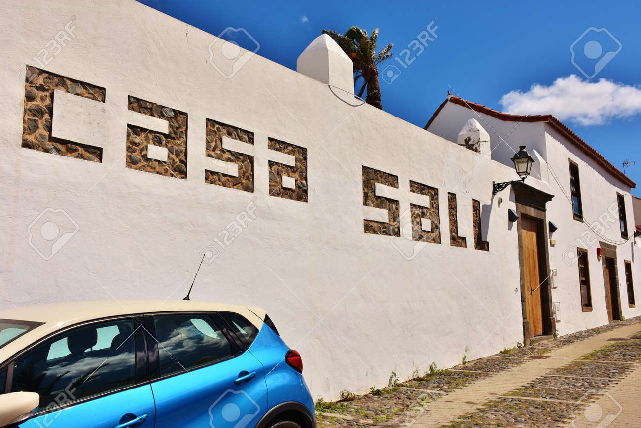 Stock Photo Grand Canary, Spain. 10/4/2017. Casa Sall in Saint Francisco in Telde on the saint's day - 133440540