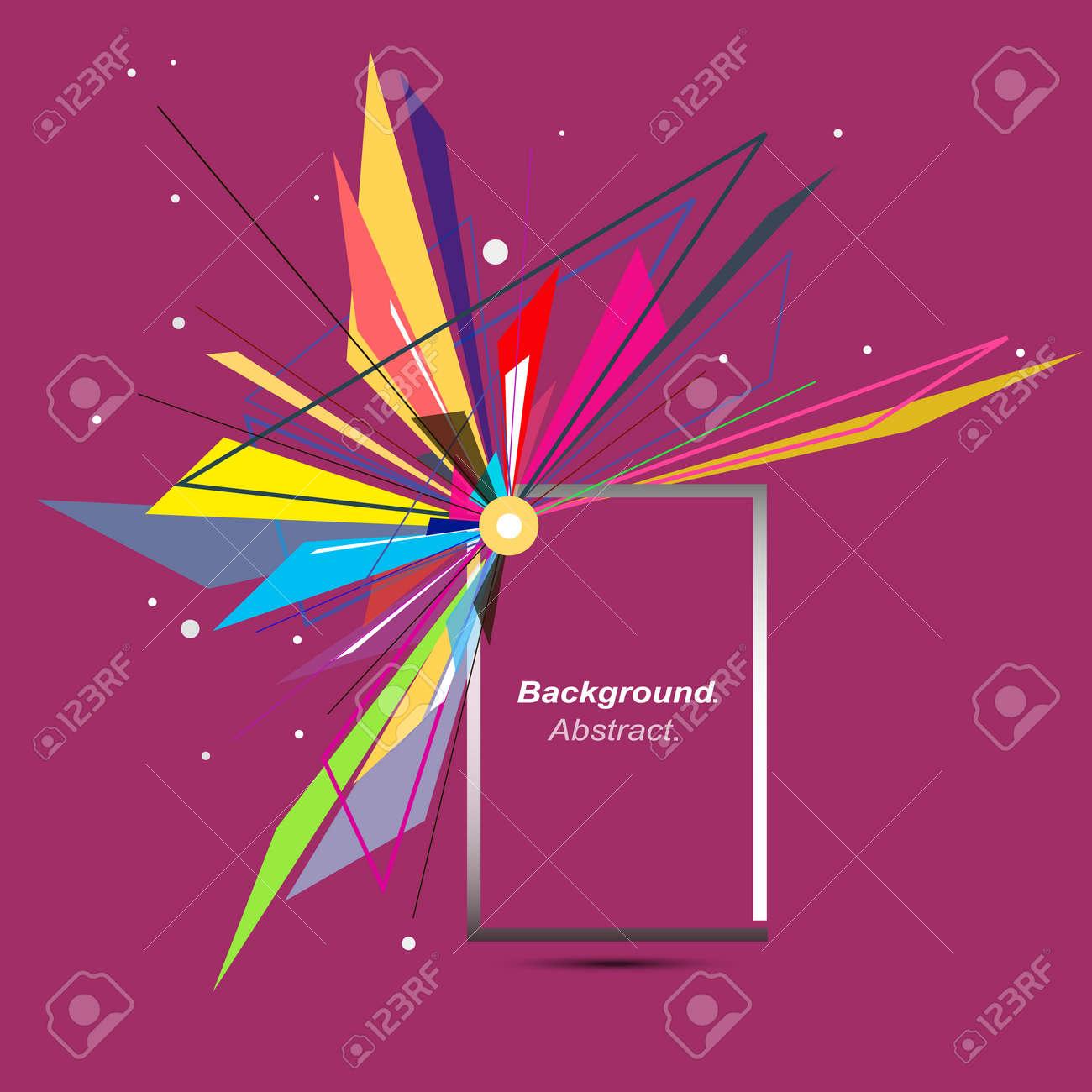 ミニマルなファッション背景デザイン。爆発アイコン。ブランドのロゴ。ブルゴーニュの赤のフォント  テクスチャです。近代的な広告バナー。三角形の接続ファイバー。