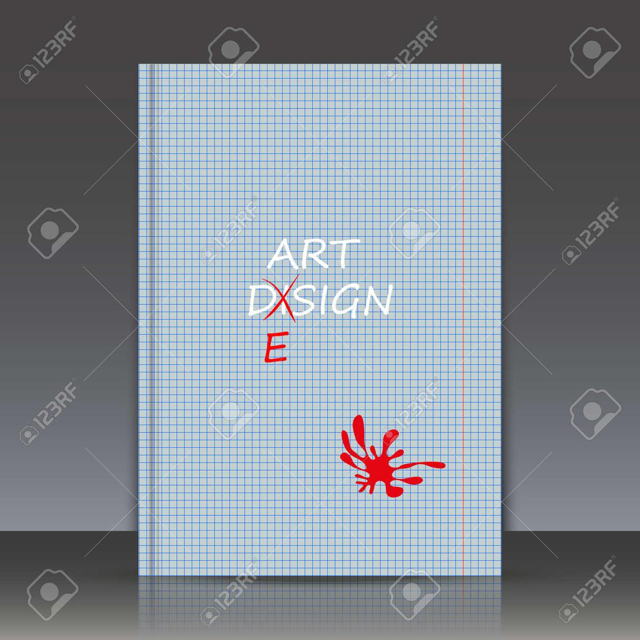 Derreur Dorthographe Inkblot Rouge Toile De Fond Lorphographie Feuille Titre Brochure A4 Surface Texture Carte Visite