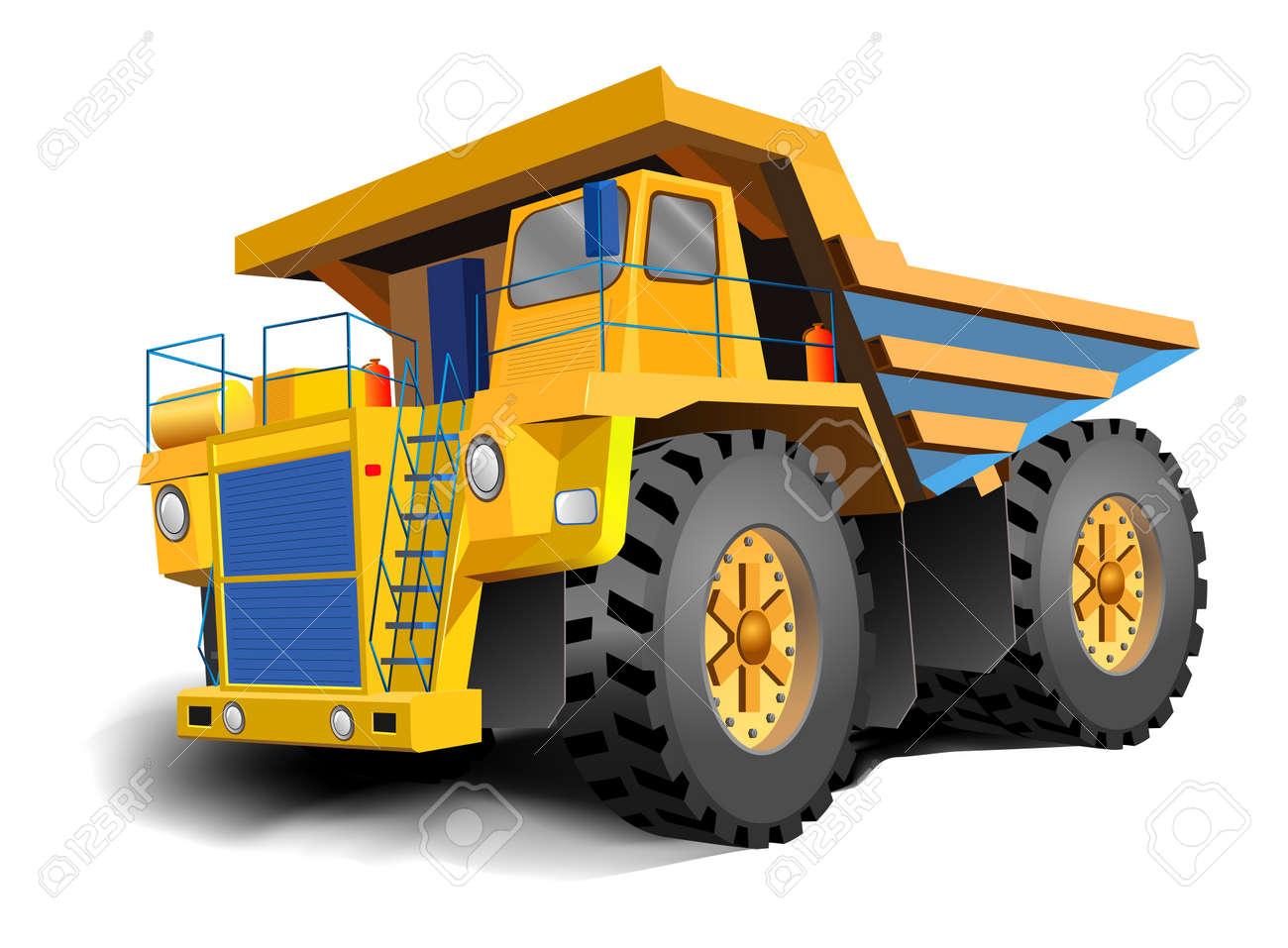 The big dump body trucks illustration - 6878707