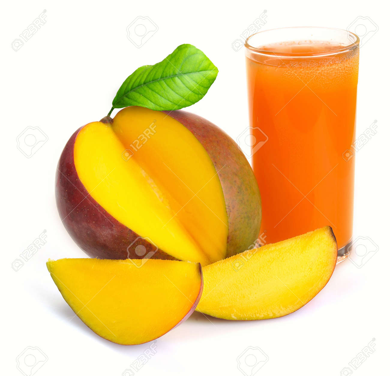 Mango: Mango Juice In A Glass Of Fruit Mango Stock Photos & Pictures  Royalty Free
