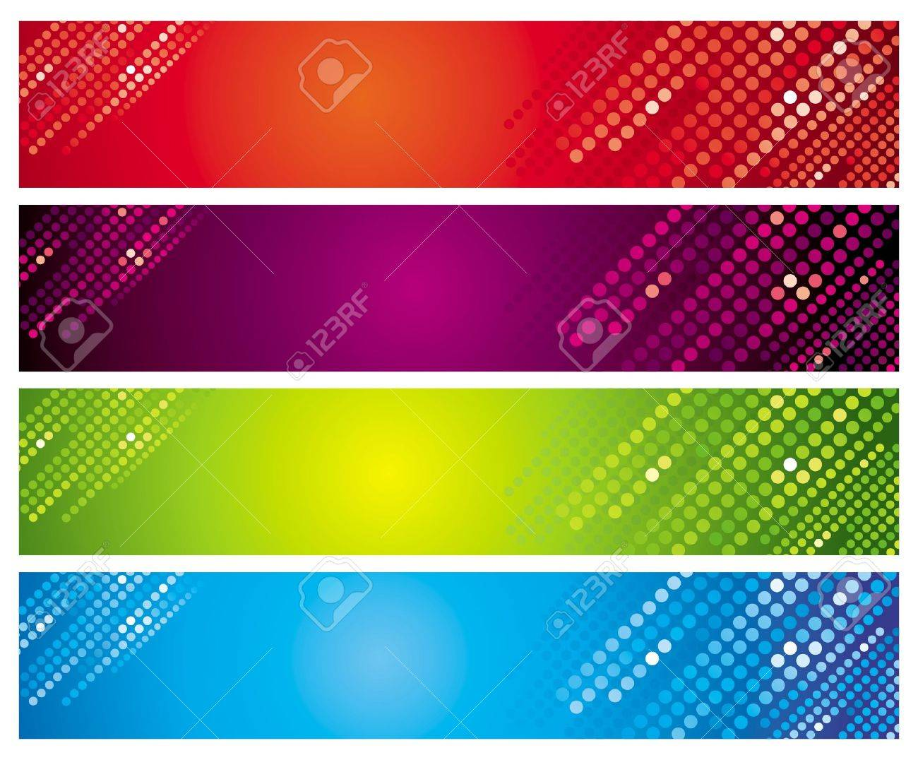 Four multi-coloured banners Stock Vector - 4788195