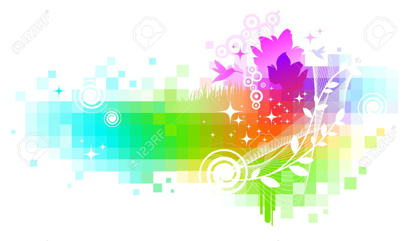 Abstract colorful nature vector background Stock Vector - 9857377