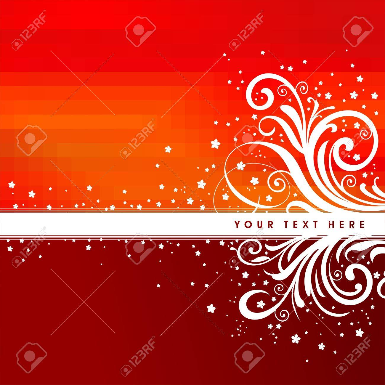 Red vector ornate background Stock Vector - 9857380