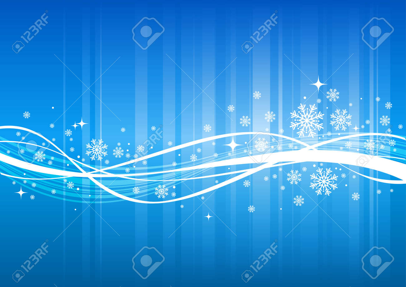 Blue winter vector background with snowflakes Stock Vector - 9902907